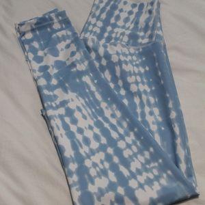 DYI Blue Tie-Dye Print Leggings